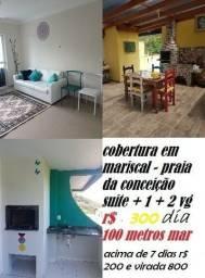 Cobertura Locação Temporada 2 Dormitórios Praia da Conceição Mariscal 2 Vagas de Garagem