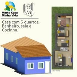 Casa Nova, 130mil, 3 Quartos, Laje, VG,