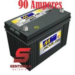 Bateria Moura 90 Ah em até 12x sem juros