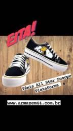 Tênis All Star Snoopy Plataforma