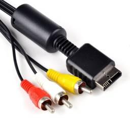 Cabo De Vídeo Componente 3 RCA Para Playstation 2 E Playstation 3