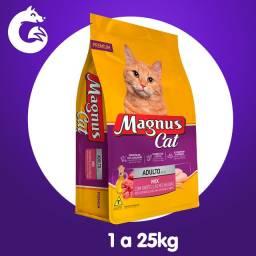 Ração Magnus Cat Premium Gatos Adultos Mix com Partículas Recheadas