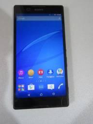 Celular Sony Xperia D5322 funcionando, com alguns defeitos