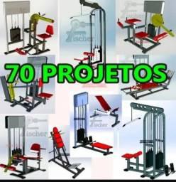 70 Projetos (equipamentos de academia)