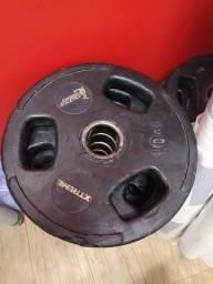 Anilhas Xtreme Usadas - 10 e 20kg