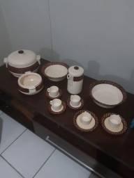 Conjunto de Porcelana Antiga Scalla Brazil - 15 Peças