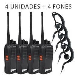 4 Rádios Comunicador Walk Talk Baofeng Bf - 777s