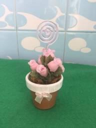 Vaso com Florzinhas com porta Retrato ou bilhete