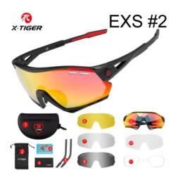 Título do anúncio: Novo Óculos De Ciclismo X-Tiger Unissex 5 Lentes