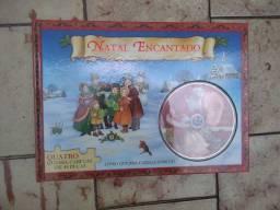 Livro quebra cabeça de Natal com cd