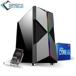 Pc Gamer - Intel Core i5 10400F - 8Gb DDR4 - SSD 480Gb - Fonte 350W - Loja Coimbra