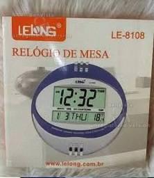 Relógio De Mesa Parede Lelong Le-8108