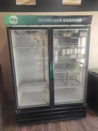 Freezer 2 portas vertical gelopar usado.