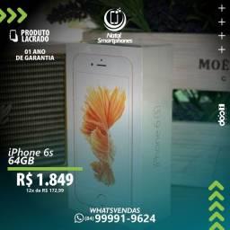IPHONE 6S (64GB) - OURO ROSE ( GARANTIA, 12 MESES, MUNDIAL, DA APPLE ) *ANATEL*