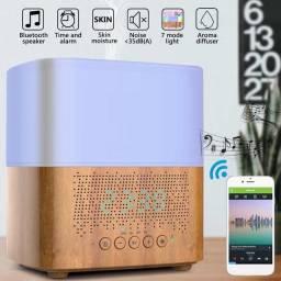 Título do anúncio: Difusor, Purificador e Umidificador de Ar C/ Som Bluetooth e Relógio
