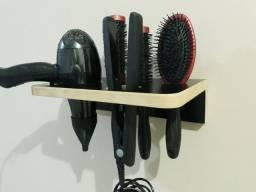Suporte para secador de cabelo,chapinha e escova