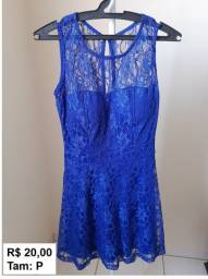 Título do anúncio: Vestido azul de renda