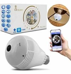 Título do anúncio: Lâmpada C/ Câmera de Monitoramento 360º Via Wi-Fi