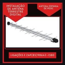 Antena espinha de peixe - antena terrestre - Antena digital - Instalação disponível