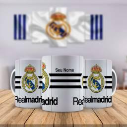 Real Madrid Time Caneca Personalizada Com Nome que quiser