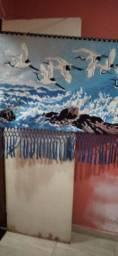 Quadro de tecido feito à mão