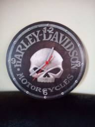 Relógio redondo Harley