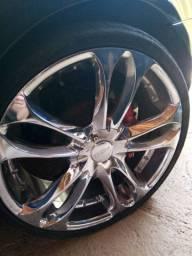 Vende se duas rodas aro 20 cromada 8 furos com pneu 1.200