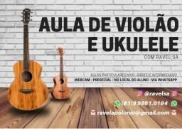 Aulas de violão e Ukulele online