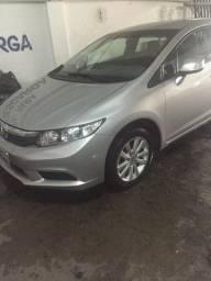 Honda Civic XLS 2014 Prata Novíssimo - Único Dono - Baixo KM - Ipva 2021 pago