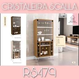 CRISTALEIRA SCALLA R$479