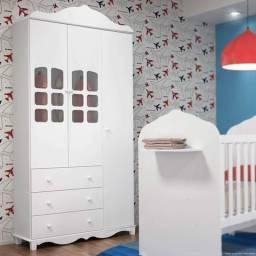Guarda roupa Bebê 3 portas e 3 gavetas