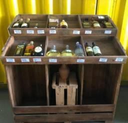 Vendo expositor vinho e bomboniere