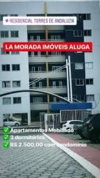 Andaluzia, 3 Quartos, 1 Suíte, 100% Mobiliado , Otima Localização