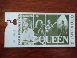 Antigo ingresso show Qeen 1982 original