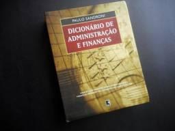 Dicionário de Administração e finanças - Paulo Sandroni - Ed Record - 527 Pags