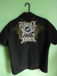 Camisa Abdul Jabal Preta, tamanho (G), semi nova