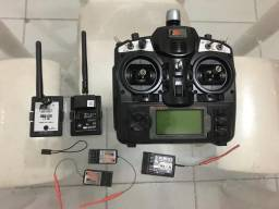 Rádio Turnigy 9x FlySky 9x Módulo FrSky