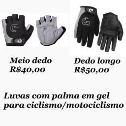 Luvas esportivas - Ciclismo/Motociclismo/Musculação