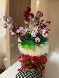Botas natalinas para decoração ou lancheiras