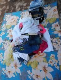 Lote de roupas 130 peças