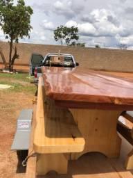 Prancha única mesa rústica