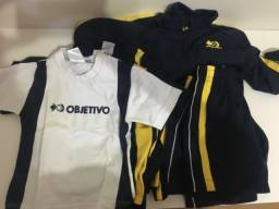 Kit uniforme objetivo menino tamanho 2