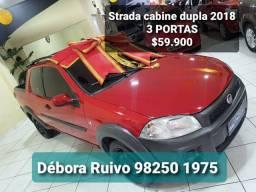 ##Strada cabine dupla, a partir $$$1.000,00 Entrada. Financiamento Boulevard automóveis