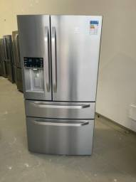 Geladeira Frost Free Electrolux 540 litros 3 portas Inverse Inox DM90X 127v