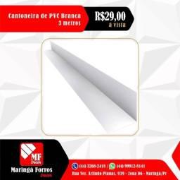 Cantoneira de PVC - Branca - Preta - Mogno