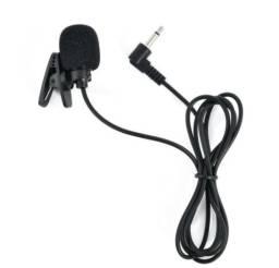 Microfone de Lapela Portátil Externo 35mm; com Fio Compatível PC/Android/iPhone/Laptop