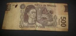 Vendo nota de 500 pesos