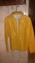 blusa de couro