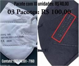 Título do anúncio: Máscara N95 - Branca / Preta