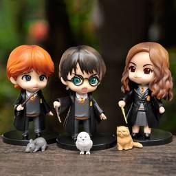 Boneco colecionável Harry Potter Hermione Ron